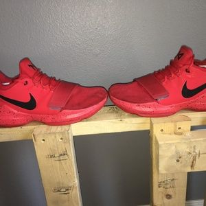 Nike Shoes - Customized PG1's (Red and Black)